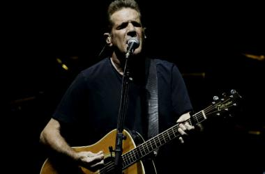 Glenn Frey of the rock band the Eagles performs during a concert at the American Airlines Arena
