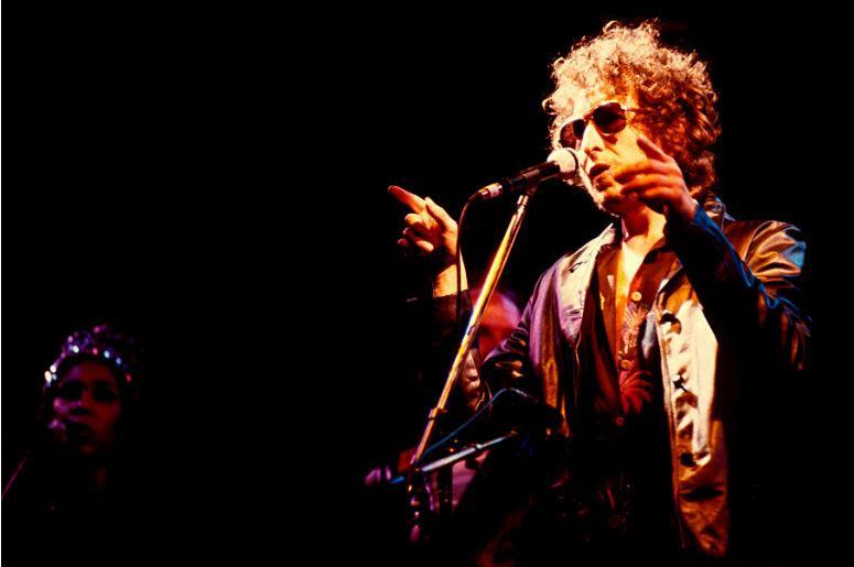 Bob Dylan performs