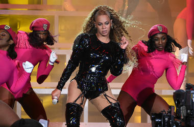 Beyonce performs at the 2018 Coachella Valley Music And Arts Festival