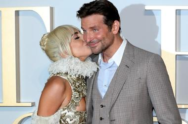 Lady Gaga and Bradley Cooper attend the UK premiere of 'A Star Is Born'