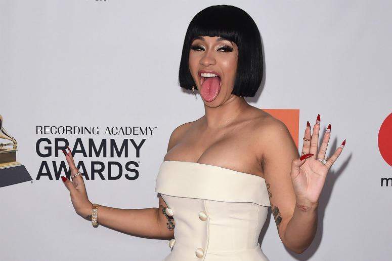 NEW YORK - JANUARY 27: Cardi B at the 2018 Clive Davis Pre-Grammy Gala at the Sheraton New York Times Square on January 27, 2018 in New York, New York.