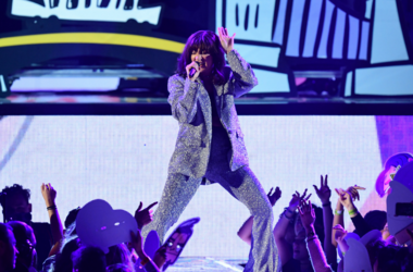 Charli XCX on stage during the MTV Europe Music Awards