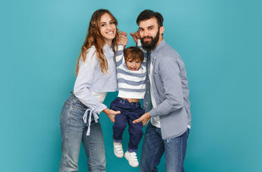 Mom and Dad with Son