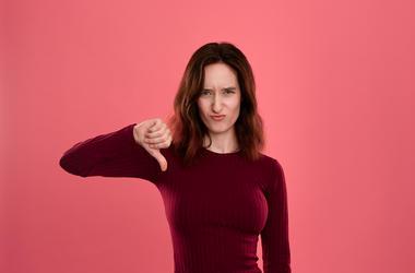Woman Thumbs Down