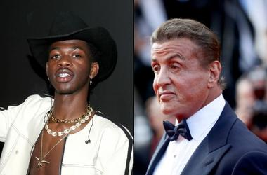 Lil Nas X and Sylvester Stallone