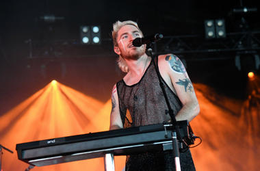Nicholas Petricca of Walk The Moon performs