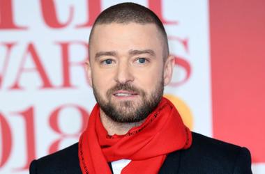 2/22/2018 - Justin Timberlake attending the Brit Awards at the O2 Arena, London.