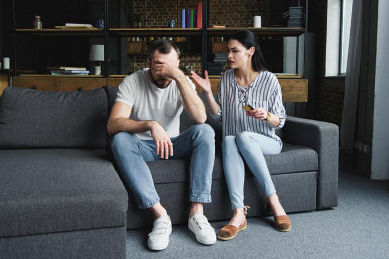 Couple Fighting Over Money