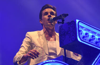 Brandon Flowers of The Killers performs at American Airlines Arena