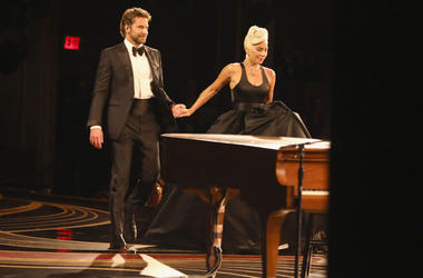 In this handout provided by A.M.P.A.S., Bradley Cooper and Lady Gaga perform onstage during the 91st Annual Academy Awards at the Dolby Theatre on February 24, 2019 in Hollywood, California