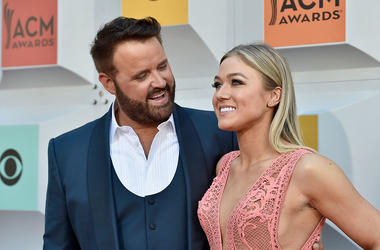 Singer Randy Houser (L) and Tatiana Starzynski attend the 51st Academy of Country Music Awards at MGM Grand Garden Arena on April 3, 2016 in Las Vegas, Nevada