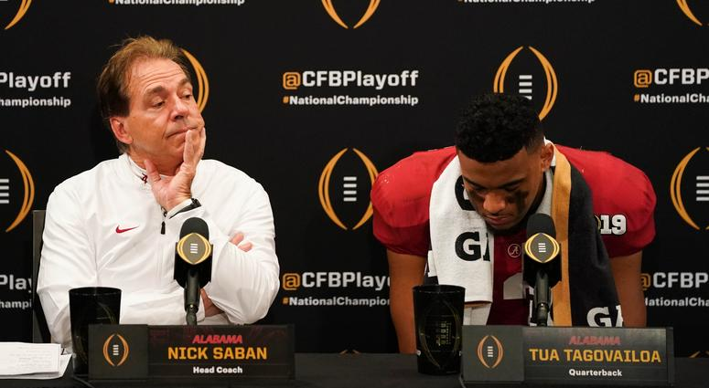 Nick Saban Tua Tagovailoa Alabama