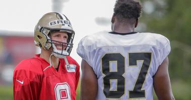 Drew Brees Jared Cook New Orleans Saints