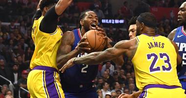 Kawhi Leonard LeBron James Clippers Lakers