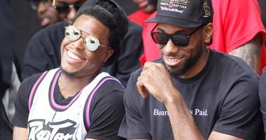 Kawhi Leonard Kyle Lowry Raptors NBA Finals