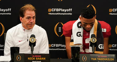 Nick Saban Tua Alabama Clemson