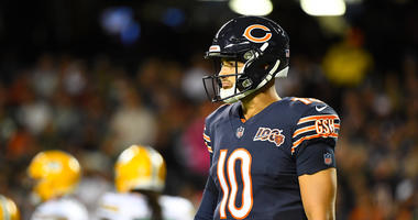 Chicago Bears quarterback Mitchell Trubisky (10) during the second quarter against the Green Bay Packers at Soldier Field.