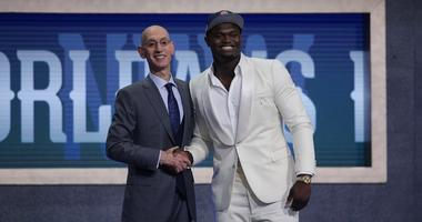 Zion Williamson Adam Silver NBA Draft