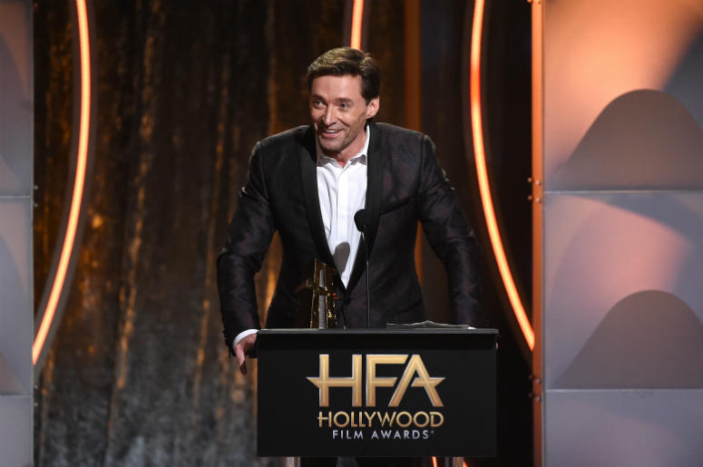 Hugh Jackman accepts the Hollywood Actor Award onstage during the 22nd Annual Hollywood Film Awards