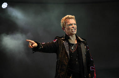 Billy Idol performs during SunFest