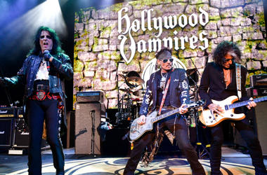 Alice Cooper, Johnny Depp and Joe Perry of The Hollywood Vampires