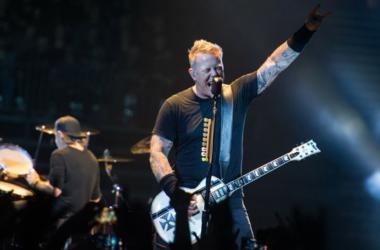 James Hetfield and Lars Ulrich of Metallica performing live