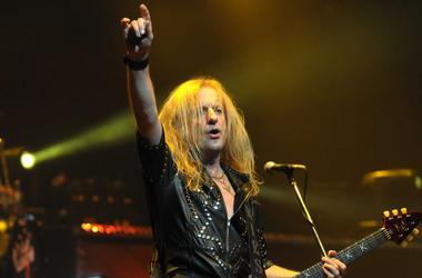 Judas Priest guitarist K.K. Downing performs at Hard Rock Live