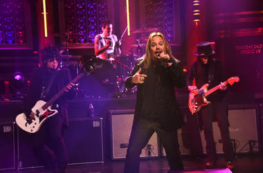 Motley Crue perform during a taping of 'The Tonight Show Starring Jimmy Fallon'