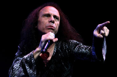 Ronnie James Dio performs on stage with Heaven and Hell in 2007