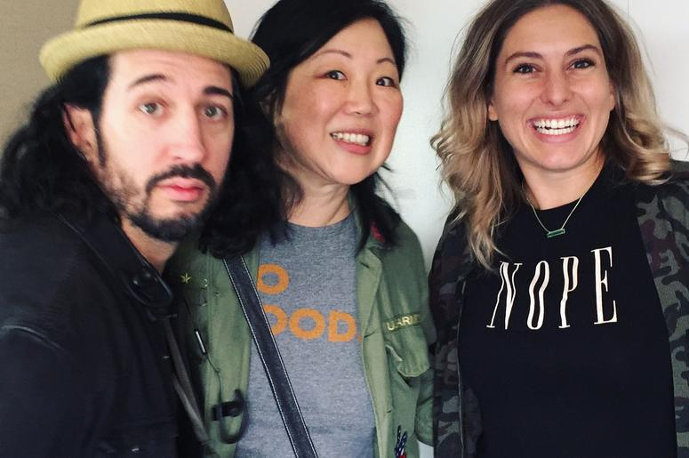 Allie Hartwick, Margaret Cho & Rocco Stowe at Comedy 103.1 Denver