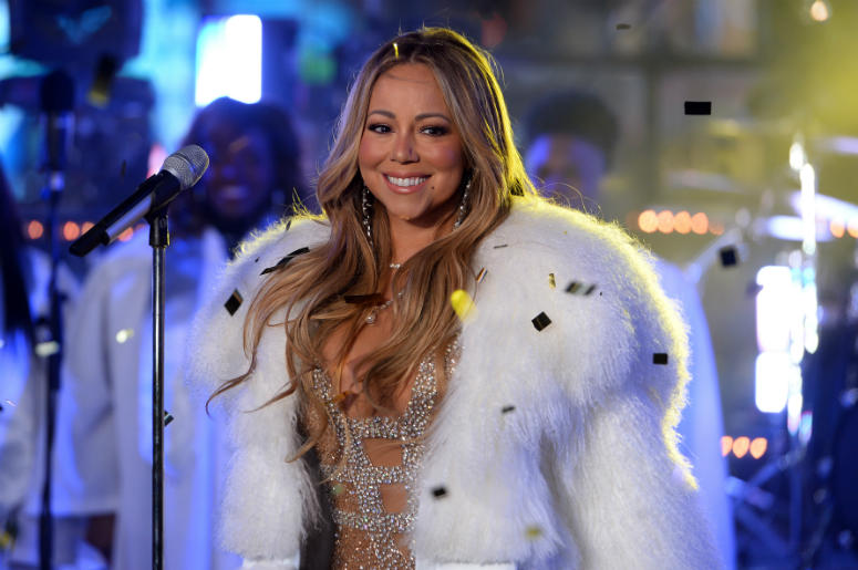 Singer Mariah Carey performs on stage during New Year's Eve 2018 celebrations in Times Square, New York, NY, on December 2017. Mariah Carey's previous year's performance was interrupted by technical difficulties.