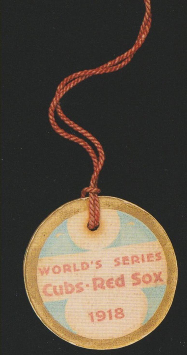 1918 World Series Press Pin