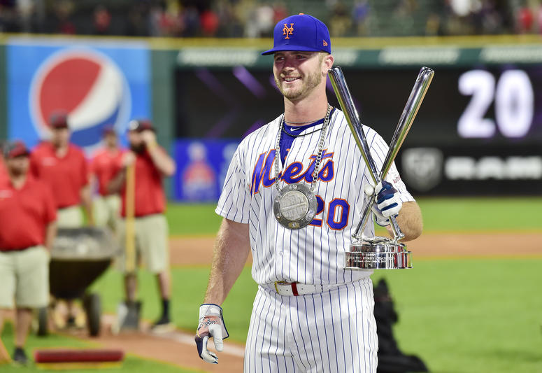 Mets Rookie Pete Alonso wont the 2019 Home Run Derby and donated 10% of his winnings to veteran charities