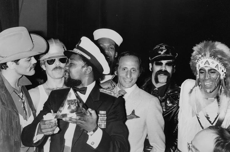 Henri Belolo with music group the Village People