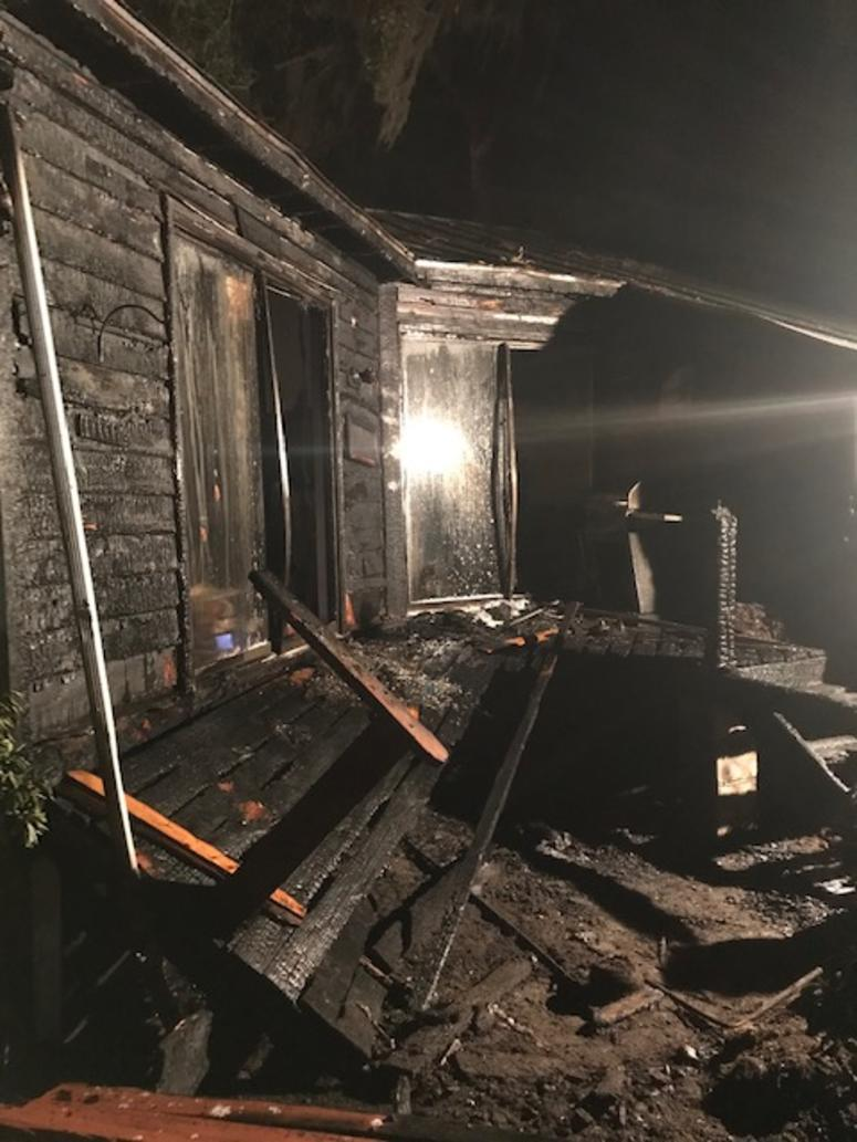 Rand's home after fire
