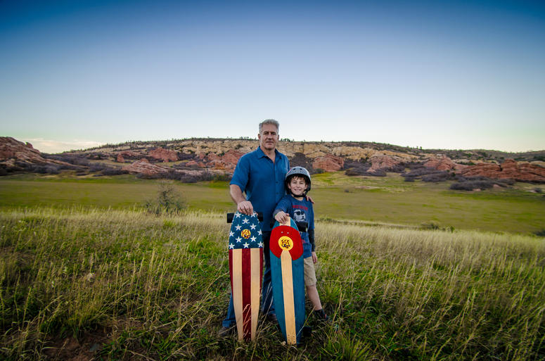 Retired Navy fighter pilot Mike Maloney founder of KOTA Longboards