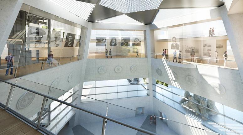 MoH museum interior rendering