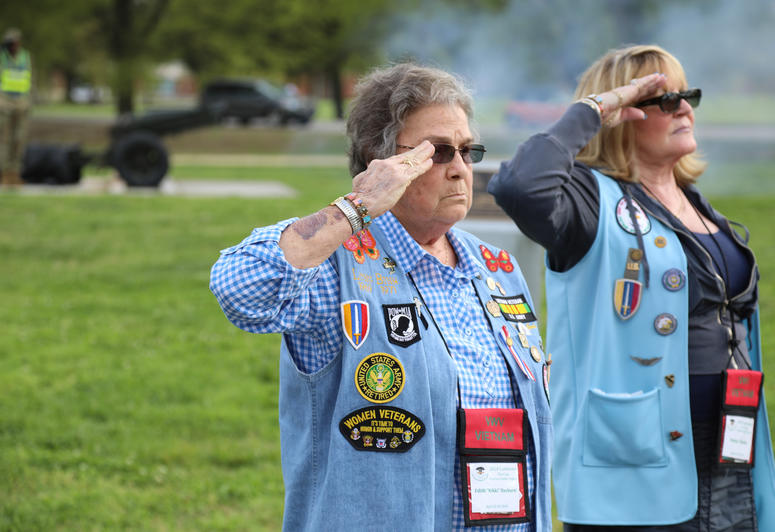 Vietnam Women Veterans visit Fort Lee