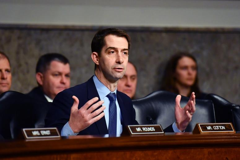 Arkansas Sen. Tom Cotton questions Acting Secretary of Defense Patrick M. Shanahan, Secretary of the Air Force Heather Wilson, Chairman of the Joint Chiefs of Staff Gen. Joseph F. Dunford, and Commander, United States Strategic Command Gen. John E. Hyten