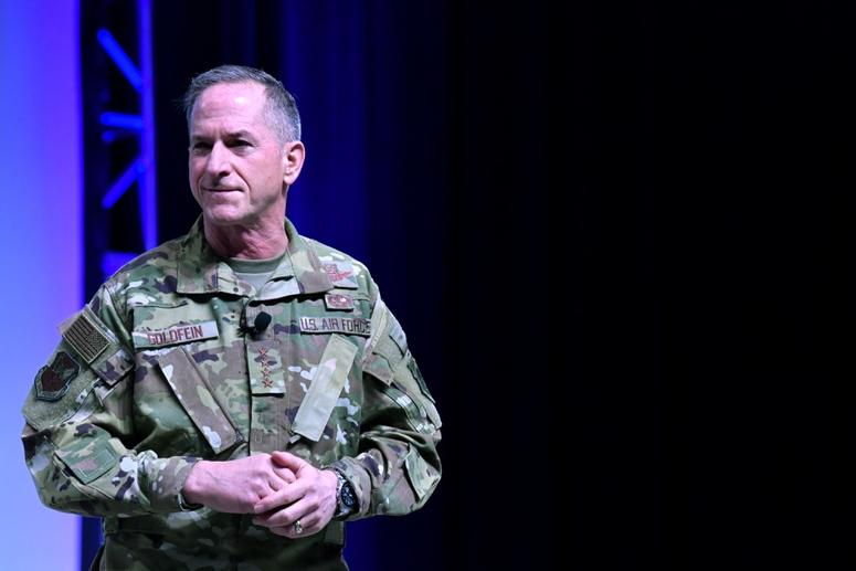 Air Force Chief of Staff Gen. David Goldfein says he's lived in military housing for 50 years.