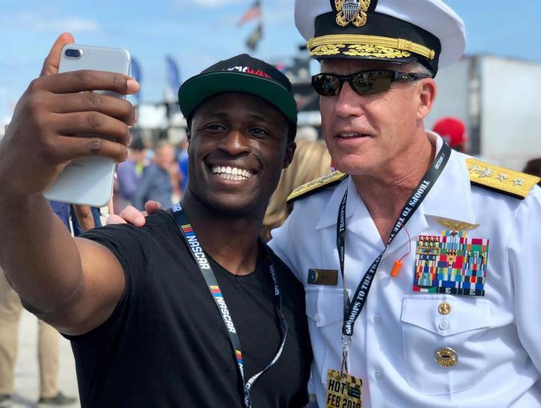NASCAR driver and Lt. in the Navy Reserves Jesse Iwuji