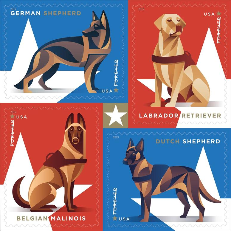 Military working dog forever stamps