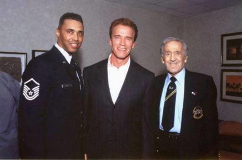 Rob Wilkins Arnold Schwarzenegger and Ben Weider