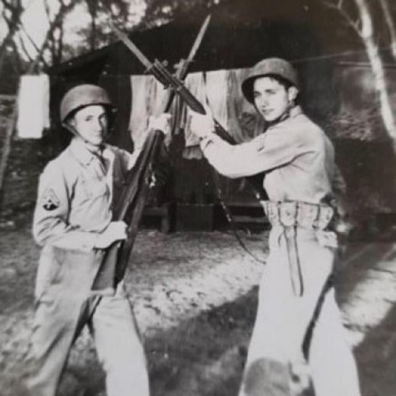 Brothers Ed and Ted Sikora, both Army service members