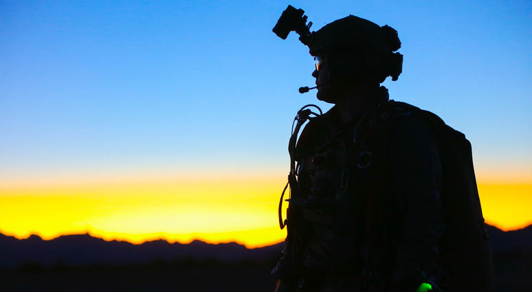 U.S. Army Special Forces Soldier with 1st Special Forces Group