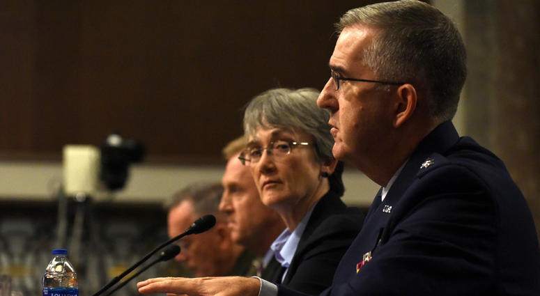 SecAF tetifies before the Senate Armed Services Committee