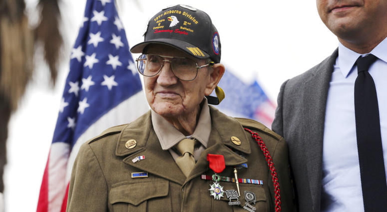 U.S. Army Pvt. Henry L. Ochsner is awarded the National Order of the Legion of Honor