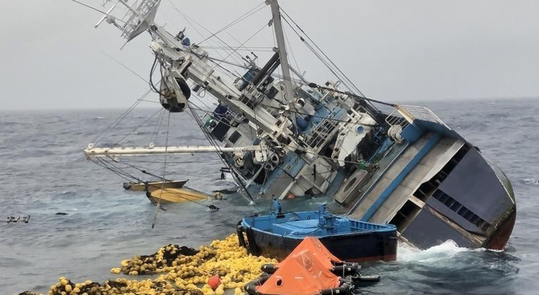 Coast Guard rescues 37 people after fishing boat capsizes, sinks in the Eastern Pacific Ocean