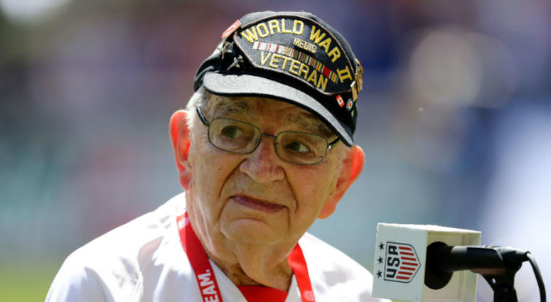 USWNT inspired to FIFA World Cup win by a 96-year-old WWII veteran.