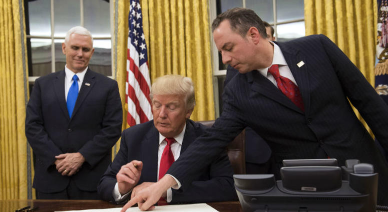 Reince Priebus, former Trump chief of staff, becomes Navy ensign at age 47.